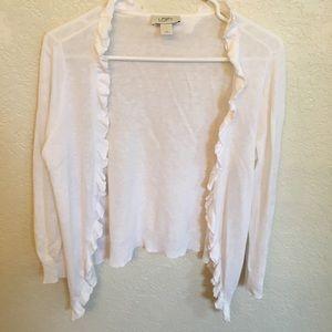White Ann Taylor Loft sweater